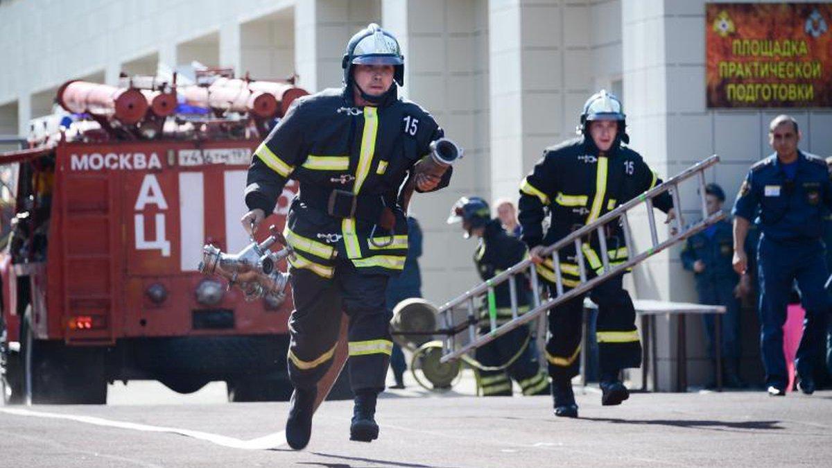 В Москве прошел первый международный Чемпионат огнеборцев